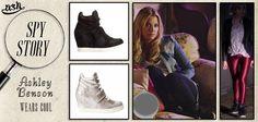 La modella ed attrice Americana #AshleyBenson indossa le #sneakersconzeppa #Cool di #Ash nella famosa serie televisiva #PrettyLittleLiars.
