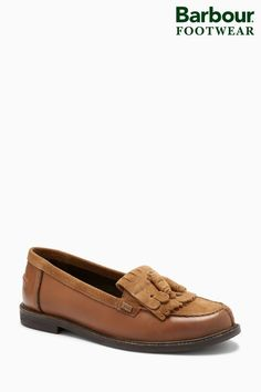 A tasselled loafer featuring classic tartan trim detailing to counter. Features classic tartan linings and padded cookie to insole. Upper - Leather, Lining and Sock - Textile, Leather, Sole - Other Materials. Tassel Loafers, Next Uk, Barbour, Uk Online, My Outfit, Tartan, Tassels, Brown, Heels