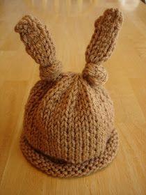 Fiber Flux...Adventures in Stitching: Free Knitting Pattern...Baby Bunny Newborn or Preemie Hat!