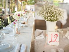 centerpieces with baby's breath