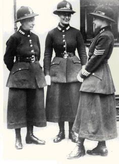3 female members of London's Metropolitan Police Force in 1919.