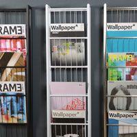 Wall Magazine Rack 5 Hole White
