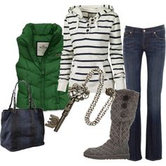I love this very casual and fun outfit.  Love the boots.  Perfect for shopping.