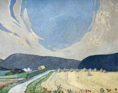 The South Downs near Eastbourne, East Sussex (Edward Reginald Frampton). Italian Paintings, Your Paintings, Art And Illustration, Artist Painting, Painting & Drawing, Watercolor Painting, Watercolors, Landscape Art, Landscape Paintings