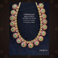 Necklace Designs, Indian Jewelry, Antique Jewelry, Emerald, Jewelry Design, Jewels, Bridal, Gemstones, Diamond