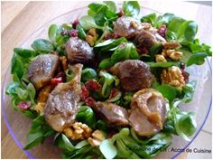 Confit Duck Gizzard Salad with  Lamb's Lettuce, Cranberries and Coconut Oil
