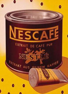 Aún la tengo y la uso para el café .....la compró papá cuando estuvimos en Brasil año 1950.........Nescafe.