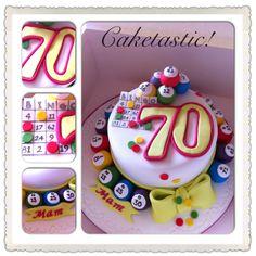 65 Birthday Cake, 75th Birthday Parties, Birthday Cakes For Women, 70th Birthday Gifts, Birthday Memes, Bingo Cake, Bingo Party, Paw Patrol Cake, Cupcakes