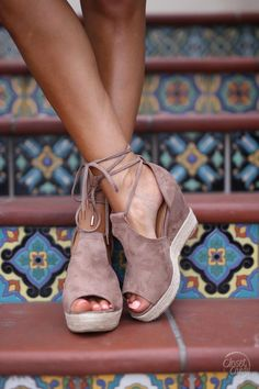 Keeping Secrets Wedges - Taupe