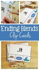 Write the Room Ending Blends {NT, ND, MP}   Writing ...   Ending Blends Picture Cards Printable
