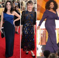 Julia Louis Drefus Amanda Peet Oprah dresses 2014 SAG Awards