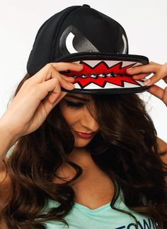 Monster Mouth Snapback Hat