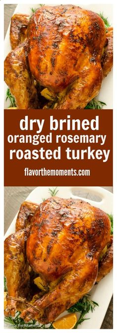 Dry Brined Orange Rosemary Roasted Turkey is the easy way to brine your turkey with no messy liquid! Roast it to perfection for a juicy, flavorful turkey with the crispiest skin ever. Flavor the Moments