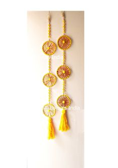 Your place to buy and sell all things handmade Door Hanging Decorations, Diy Diwali Decorations, Indian Wedding Decorations, Diwali Diy, Diwali Craft, Temple Design For Home, Creative Birthday Cards, Beaded Mirror, Indian Doors