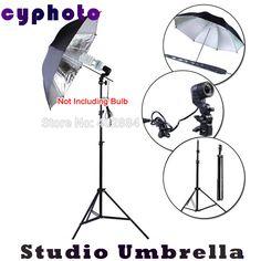 "photography Equipment 2M light Stand PhotoStudio lamp holder with 33"" Black Silver Flash Reflector Studio Umbrella"