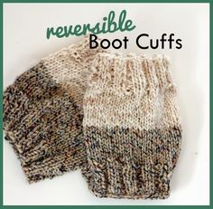 Everyday Art: Free Reversible Knit Boot Cuff Pattern