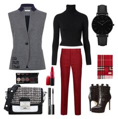 """""""Winter #39"""" by leila-image-style ❤ liked on Polyvore featuring Atea Oceanie, Étoile Isabel Marant, MICHAEL Michael Kors, Karl Lagerfeld, Witchery, CLUSE, Burberry, MAC Cosmetics, Winter and trousers"""