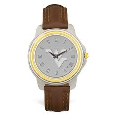 Our new men's WVU two toned watch will take you from the next football game or to your next interview.