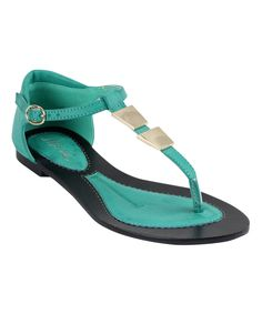Another great find on #zulily! Turquoise Buckle Infinity Sandal by Mi.iM #zulilyfinds