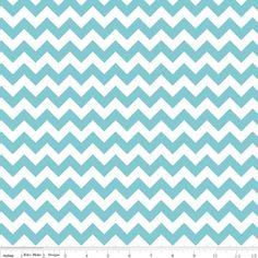 Riley Blake Designs - Small Chevron - Small Chevron in Aqua. fabric for dining room?