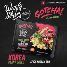World Series/Gotcha Plant-Based RTE Meals; Globally Inspired. Grab your passport, pack your bags, & travel the world with Jackson & Partners one country at a time. Every new discovery enriches our lives & we are excited to introduce you to our new line of ready-to-eat meals from the US; inspired by Korea. #readytoeatmeals #worldseriesglobalcuisines #jacksonandpartners #worldseriesglobaltour #gotcha #plantbased Burger Recipes, Pork Recipes, Seafood Recipes, Eat Meals, Steak Rubs, Homemade Burgers, Korean Bbq, How To Introduce Yourself, Passport