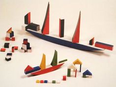 """Alma Siedhoff-Buscher """"Large and small ship building game"""" 1923"""