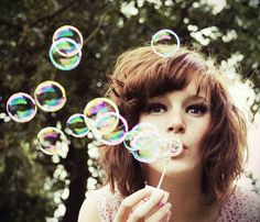 I love pictures with bubbles.