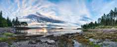 Galiano Island Panorama, Gulf Islands, BC by James Wheeler