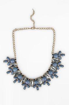 Colar Maxi Chic Pedras Resinadas Azul | Olook