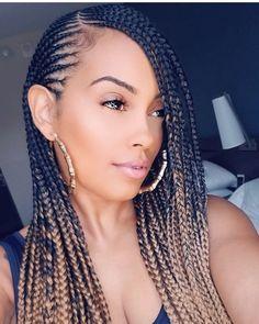 Ideas braids with weave cornrows protective styles – Hair styles Black Girl Braids, Braids For Black Hair, Girls Braids, Braids For Black Women Cornrows, Hair For Crochet Braids, Braids For The Beach, Braids For Black Women Box, Small Feed In Braids, Kid Braids
