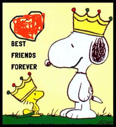 Snoopy & Woodstock are 'best friends forever'.❤️