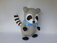 Raccoon Plush Toy, Racoon Plushie, Stuffed Animal, Sock Monkey, Stuffed Toy