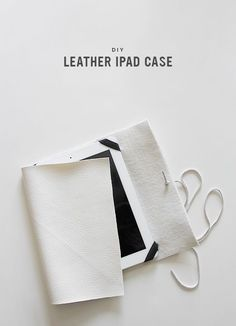 diy leather ipad case  via almost makes perfect
