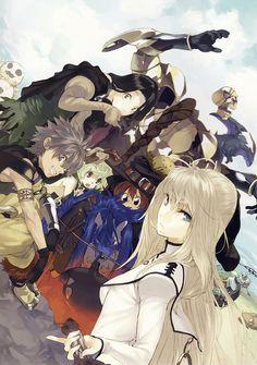Protagonists Illustration - Characters & Art - Shining Force EXA