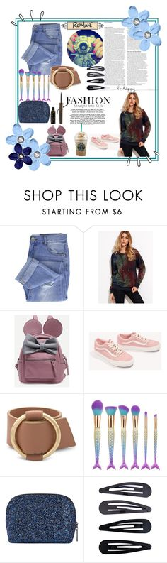 """""""romwe"""" by thisgirlisdanny ❤ liked on Polyvore featuring ASOS, Taya, Vans, Old Navy, Bobbi Brown Cosmetics, Accessorize and 100% Pure"""