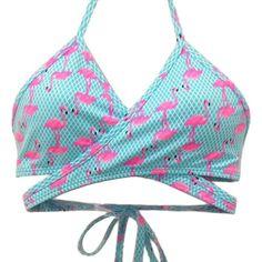 DU BRAZIL top cruzado flamingo Bikinis String, Swimwear, Tops, Fashion, Vestidos, Cross Top, Suits, Bathing Suits, Moda
