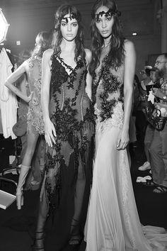 Backstage at Atelier Versace Autumn/Winter 2015-2016