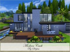 This beautiful modern house is perfect for your sims. The house is located in Windenburg on a 40x30 lot, and it is fully furnished and decorated. It has: Found in TSR Category 'Sims 4 Residential...