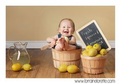 lemons , Ann Krasner isn't this cute! Newborn Photos, Baby Photos, Summer Baby Pictures, Children Photography, Newborn Photography, Lemon Pictures, Pink Lemonade Party, Baby Fruit, Leigh Ann