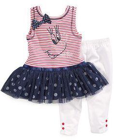 Nannette Little Girls' 2-Piece Minnie Mouse Tunic & Capri Leggings Set - Kids Toddler Girls (2T-5T) - Macy's