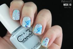 #ablecs15 Week 10: Rainy Day. Color Club - In De-Nile / KBShimmer - Happily Ever Aster / Konad - m08 / Konad - Blue.