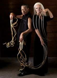 First world record holder and second with the longest nails