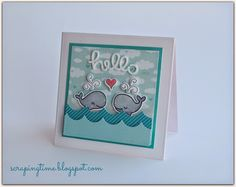 How to make a card with Lawn Fawn stamps and stretching your dies shrinking your foam!! Visit the blog for details!