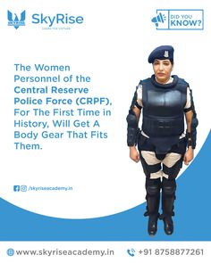 The Women Personnel of the Central Reserve Police Force (CRPF), For The First Time in History, Will Get A Body Gear That Fits Them.   #UPSC #IAS #CivilService #UPSCOnlineCourse #CRPF #CivilServiceCourses #IASCourses #UPSCLawOptional #UPSCIndianPolity Civil Service, Online Coaching, The One, First Time, Did You Know, Police, History, Learning, Fitness