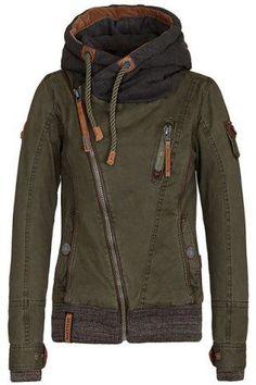 Active Hooded Skew Zippered Long Sleeve Thick Hoodie For WomenSweatshirts & Hoodies | RoseGal.com