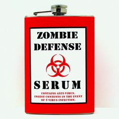 Resident Evil Zombie Apocalypse Defense Flask Decorated by Kitschville