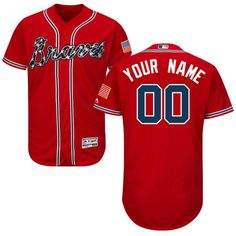e74f205b819 Nighty s Shop Mens Braves Custom Baseball Jersey Red  Embroidered Jerseys  with the name and number of your favorite player