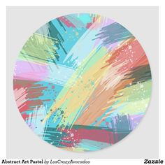 Abstract Art Pastel Classic Round Sticker