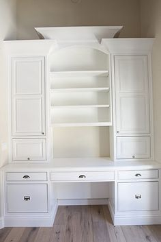 Love these built-ins. can do this in a closet or on a large wall, in a small room.. perfect.