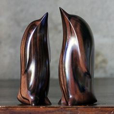 Wooden Penguin Carvings by Perry Lancaster
